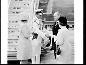 Royal family of Great Britain arrive at Kingsford-Smith Airport for the Captain Cook Bi-Centenary Celebrations tour