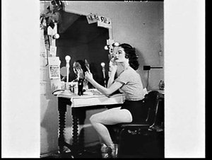 Coca-Cola advertisement shot of ballet dancer at dressing table with Coca-Cola