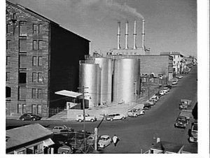C.C. Wakefield oil storage tanks in Pyrmont