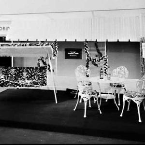 Garden furniture on the Nylex Corp. stand, NSW Guild of Furniture Manufacturers' Annual Show 1979, Sydney Showground