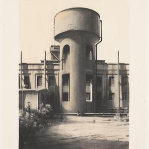 Water Tower, Power Station, South Mine, 2000 / drawing by Jeff Rigby