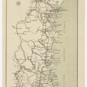 Tourist map of the lake district between Sydney and Newcastle, New South Wales, Australia [cartographic material] / compiled, drawn and printed at the Department of Lands, Sydney.
