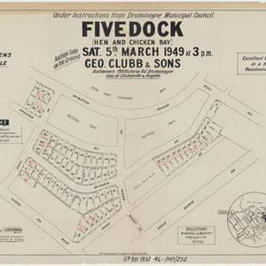 [Abbotsford, Five Dock and Russell Lea subdivision plans] [cartographic material]