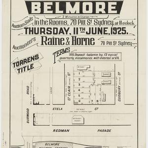 [Belmore subdivision plans] [cartographic material]