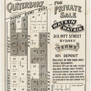 [Canterbury subdivision plans] [cartographic material]