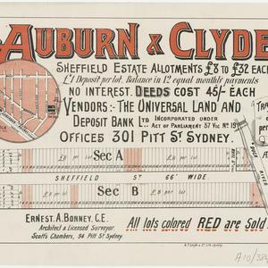 [Auburn subdivision plans] [cartographic material]