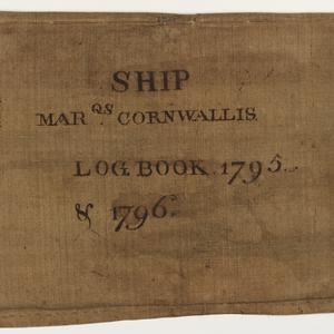 Item 01: Log book of the ship Marquis Cornwallis, 1 February-1 November 1796