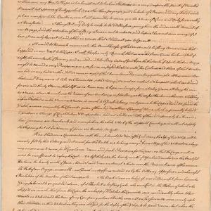 Jonathan Wathen - Letter received from William Hill, Sydney Cove, Port Jackson, 26 July 1790 (copy made in 1791)