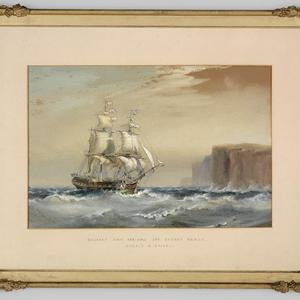 Item 11: Emigrant ship arriving off Sydney Heads, 1883 / watercolour by Oswald Brierly