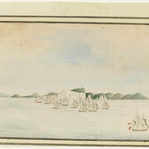 William Bradley drawings from his journal `A Voyage to New South Wales', ca. 1802