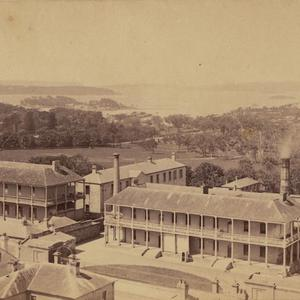 [Panoramic view of Infirmary and Mint, Macquarie Street, Sydney]