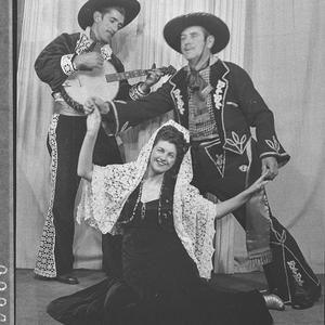 Banjo-mandolin; male singer and female singer, Roy Jones Mexican Band