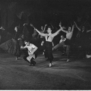 Russian ballet rehearsal at Theatre Royal (taken for J.C. Williamson Ltd)