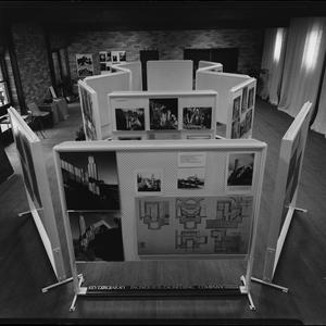File 31: Exhibition of photographs by Max Dupain of Walter Burley-Griffin houses at Castlecrag, shows local views and prices for photo prints, April 1976 / photographed by Max Dupain