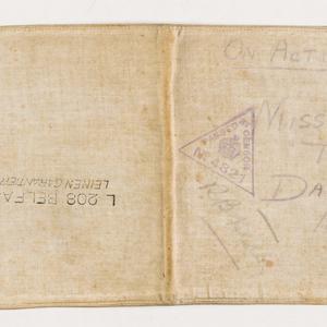 Letter written on German officer's cuff, 1917