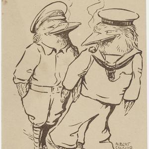 [Albert Collins World War I postcards]