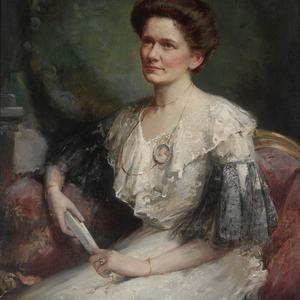 [Mabel Harriet Lillingston (nee Ogilvie)] 1905 / oil portrait by Lafayette