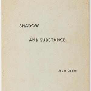 Joyce Geake typescript of 'Shadow and substance : reflections of a lesbian', 1973