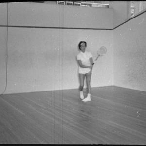 Helen Blundell, squash player, Bellevue Hill, 18 May 1965 / photographs by David Cumming