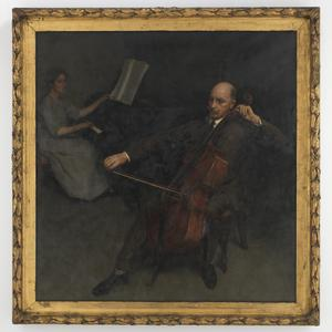 Item 02: The Cellist, portrait of Bryce Carter and Mrs Norman Carter, 1924 / Norman Carter