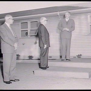 Official opening, Wool Technology School, by Rt Hon. R.J. Heffron