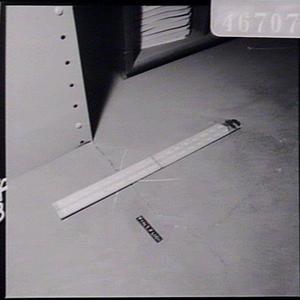 Cracks in floor & ceiling in storage room