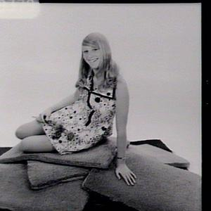 Girl on mats for catalogue cover
