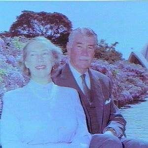 Sir Roden & Lady Cutler in the grounds of Government House