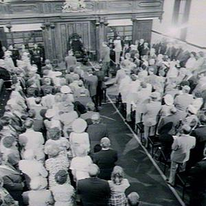 Parliament - swearing in of new Governor, Sir James Rowland,KBE DFC AFC