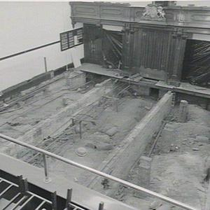 Shots taken during renovations to floor in Council Chamber