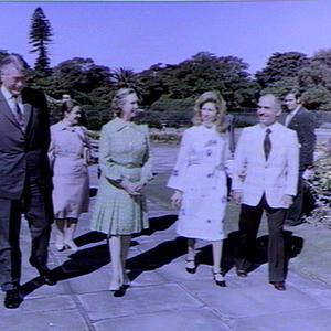 Visit of King Hussein of Jordan
