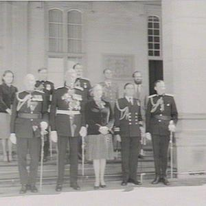 Governor Sir R. Cutler with staff