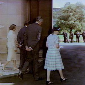 Arrival of H.M the Queen and the Duke of Edinburgh at Government House