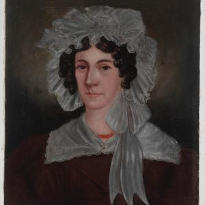 [Oil painting of unidentified woman, 1825-1840]
