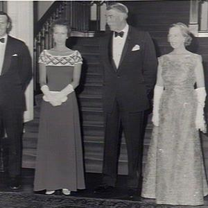Princess Anne & Mark Phillips with the Governor & Lady Cutler