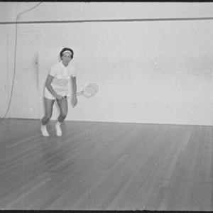 Heather Blundell, squash player, Bellevue Hill, 18 May 1965 / photographs by David Cumming
