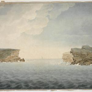 [View of the Heads, Port Jackson, ca. 1817-1826] / Richard Read, Senior