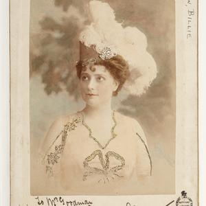 Billie Barlow, actor and singer, ca. 1900 / Talma, 119 Swanston St., Melbourne and at Sydney