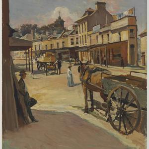 Argyle Street, looking towards the Observatory Hill, ca. 1902 / Julian Rossi Ashton