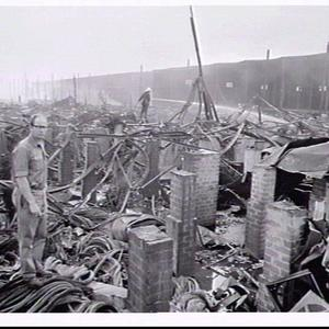 Fire in a factory-warehouse, Hale Street, Botany