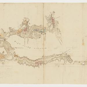 [Map showing First Branch or Macdonald River, with land holdings] [cartographic material]