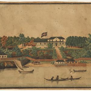 [First Government House, Sydney] / watercolour drawing by John Eyre