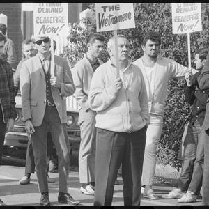 Item 230: Tribune negatives including Broken Hill Union Representatives at the Arbitration Court, Sydney, and Oala Oala Rarua delivering the 1967 H.V. Evatt Memorial Lecture, July 1967