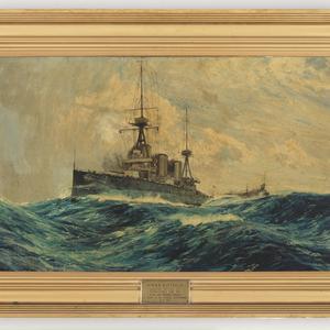 H.M.A.S. Australia, 1913 . . . sunk off Sydney Heads  . . . 12.4.24 / Charles Dixon