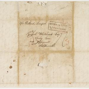 Letter from Joseph Whitehead to his uncle Samuel Whitehead, 1 March 1838