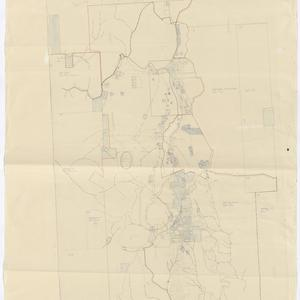 [Workings at Hawkin's Hill, Hill End New South Wales] [cartographic material].