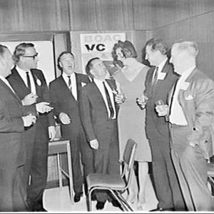 BOAC Cargo drinks and meeting with air cargo customers, BOAC House, Sydney