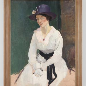 Item 10: [Portrait of a woman : oil painting, ca. 1918] / painted by George Washington Lambert