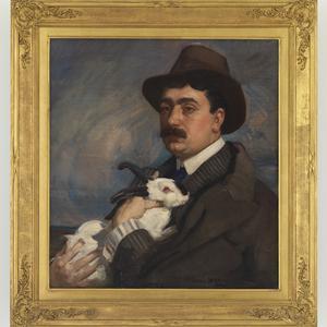 Item 21: Man with rabbit, ca. 1910 / painted by George Washington Lambert