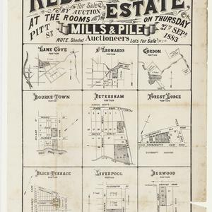[Lane Cove subdivision plans] [cartographic material]